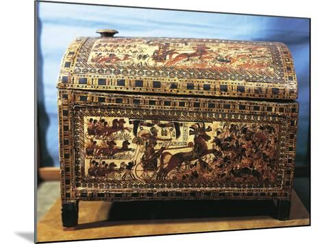 Treasure of Tutankhamen, Wooden Chest with Scenes of War--Mounted Giclee Print