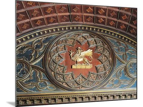 Merchants Coat of Arms, Inlaid Wood, College of Merchandise, Priors' Palace, Perugia, Umbria--Mounted Giclee Print