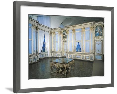 Library, Stupinigi's Little Hunting Palace--Framed Art Print