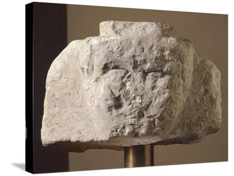 Ionic Stela Fragment from Loreto Aprutino, Abruzzo, Italy, Piceno Civilization, 9th-3rd Century BC--Stretched Canvas Print