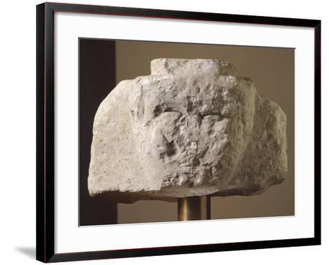 Ionic Stela Fragment from Loreto Aprutino, Abruzzo, Italy, Piceno Civilization, 9th-3rd Century BC--Framed Art Print