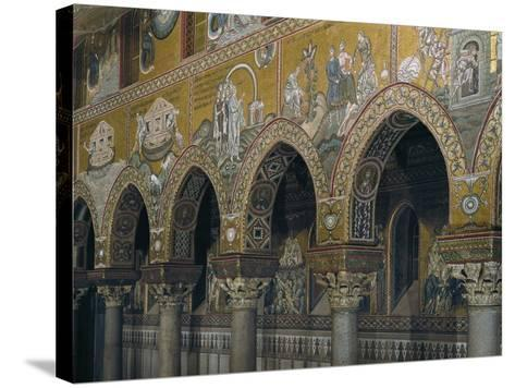 Archway of Nave with Mosaic Depicting Scenes from Old Testament--Stretched Canvas Print