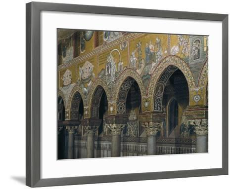 Archway of Nave with Mosaic Depicting Scenes from Old Testament--Framed Art Print
