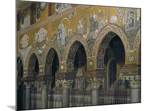 Archway of Nave with Mosaic Depicting Scenes from Old Testament--Mounted Giclee Print
