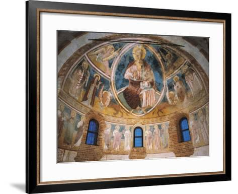 14th Century Fresco in Apse of Basilica of Twelve Apostles, Italy--Framed Art Print