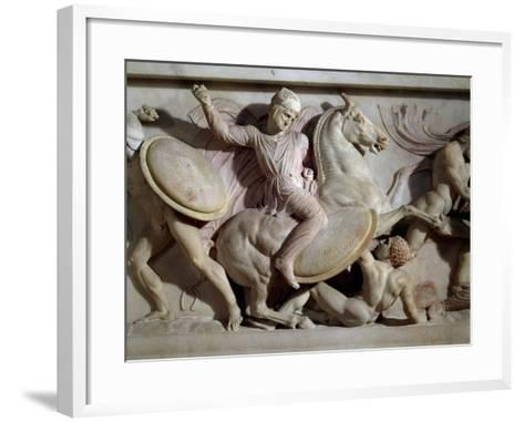The Sarcophagus of Alexander in Marble, from Sidon, Lebanon--Framed Art Print