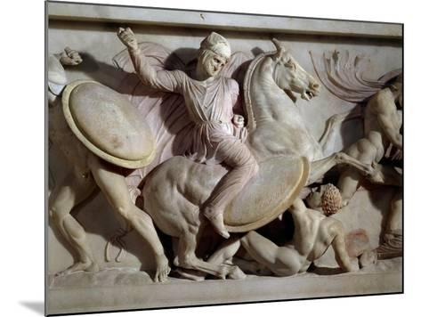 The Sarcophagus of Alexander in Marble, from Sidon, Lebanon--Mounted Giclee Print