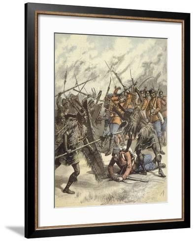 Manipur Uprising of 1891 During Anglo-Manipur War in India--Framed Art Print