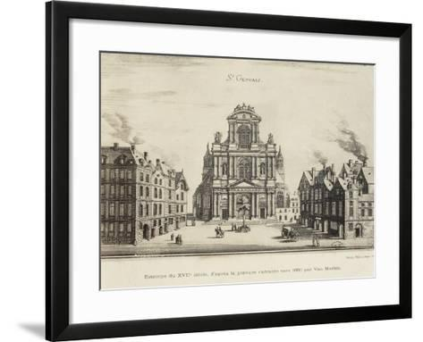 France, Paris, Church of Saint-Gervais, Facade--Framed Art Print