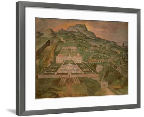 Fresco Depicting Villa Lante, Lodge of Palazzina Gambara of Villa Lante, Bagnaia, Italy--Framed Art Print