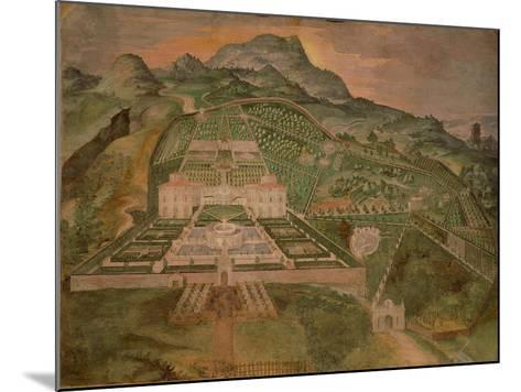 Fresco Depicting Villa Lante, Lodge of Palazzina Gambara of Villa Lante, Bagnaia, Italy--Mounted Giclee Print