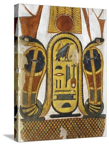 Cartouche Encloses Queen Given Name Nefertari Mery-En-Mut--Stretched Canvas Print