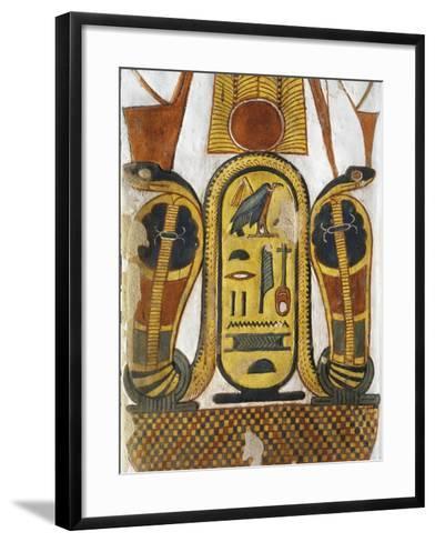Cartouche Encloses Queen Given Name Nefertari Mery-En-Mut--Framed Art Print