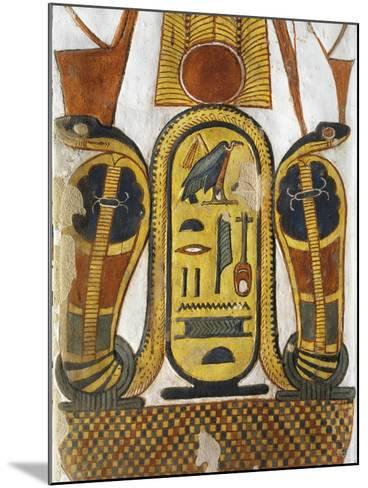 Cartouche Encloses Queen Given Name Nefertari Mery-En-Mut--Mounted Giclee Print