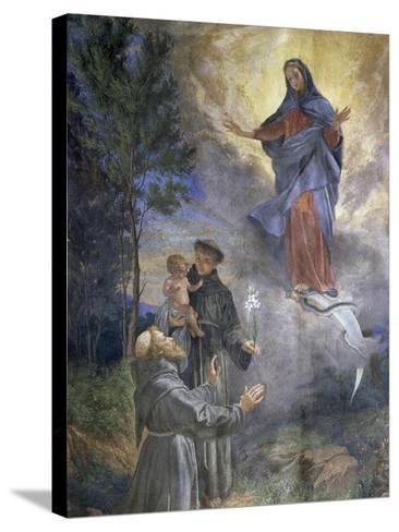 The Appearance of the Immaculate Conception to Saint Francis of Assisi and Saint Anthony of Padua--Stretched Canvas Print