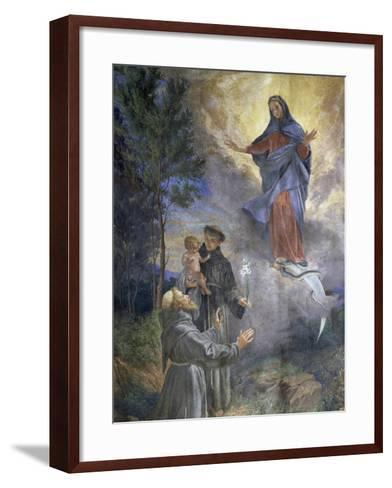The Appearance of the Immaculate Conception to Saint Francis of Assisi and Saint Anthony of Padua--Framed Art Print