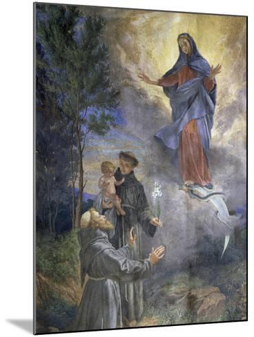 The Appearance of the Immaculate Conception to Saint Francis of Assisi and Saint Anthony of Padua--Mounted Giclee Print