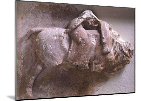 Europe on Back of Bull, High Relief from Metope of Treasury of Sicyon in Delphi, Greece--Mounted Giclee Print