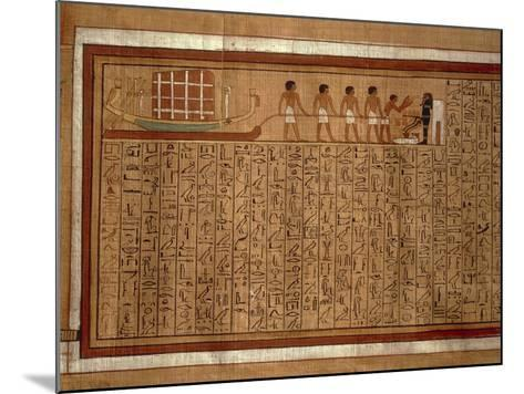 Papyrus of the 'Book of the Dead' Hieroglyphs and Polychrome Illustrations--Mounted Giclee Print