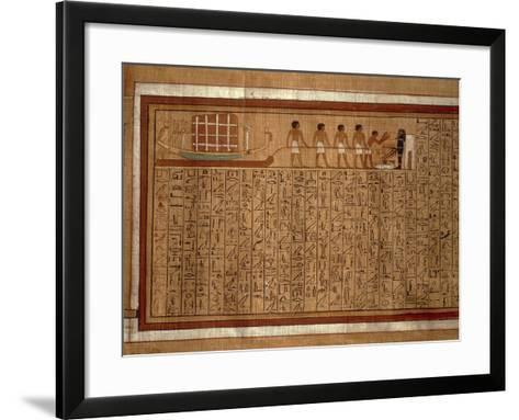 Papyrus of the 'Book of the Dead' Hieroglyphs and Polychrome Illustrations--Framed Art Print