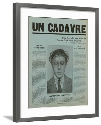 Special Print of 'Un Cadavre', 1930--Framed Art Print