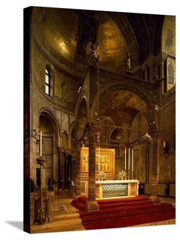 Altar, Saint Mark's Basilica, Venice, Italy--Stretched Canvas Print