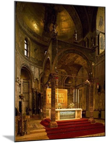 Altar, Saint Mark's Basilica, Venice, Italy--Mounted Giclee Print