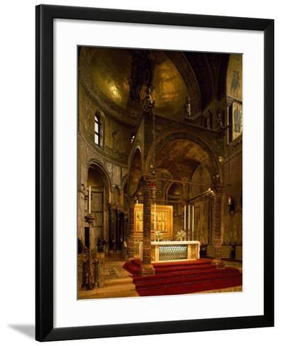 Altar, Saint Mark's Basilica, Venice, Italy--Framed Art Print