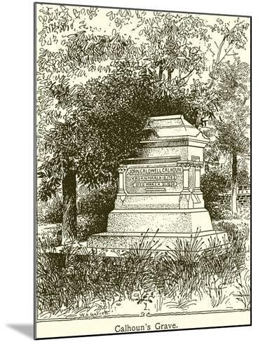 Calhoun's Grave--Mounted Giclee Print