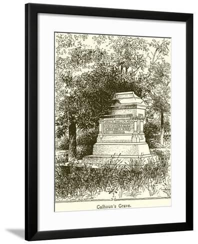 Calhoun's Grave--Framed Art Print