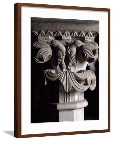 Detail of Capital of Altar Mensa of Frederick II, Cathedral Basilica of Maria Assunta--Framed Art Print