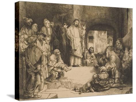 Christ Preaching--Stretched Canvas Print