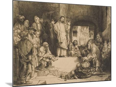 Christ Preaching--Mounted Giclee Print