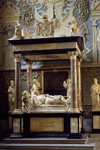 Funerary Monument for King John III of Sweden, Uppsala Cathedral, Sweden, 16th Century--Stretched Canvas Print