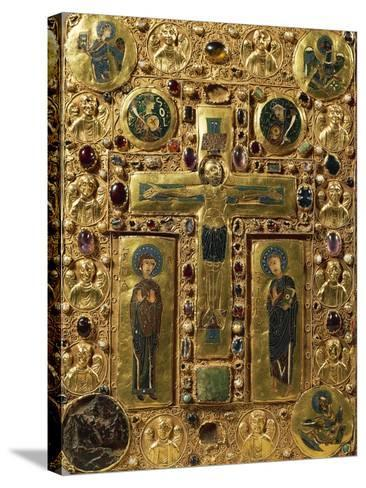 Gold, Enamel and Precious Stones Book Binding Depicting Crucifixion, around 1200--Stretched Canvas Print