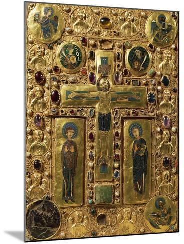 Gold, Enamel and Precious Stones Book Binding Depicting Crucifixion, around 1200--Mounted Giclee Print