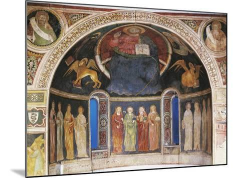 Christ in Majesty Between Symbols of Evangelists and Twelve Apostleses in Niche of Apse--Mounted Giclee Print