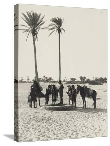 Libya, Homs, Horseback Patrol of Italian Financiers, 1935--Stretched Canvas Print
