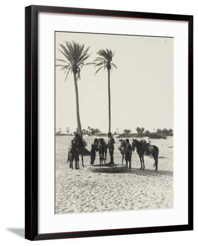 Libya, Homs, Horseback Patrol of Italian Financiers, 1935--Framed Art Print