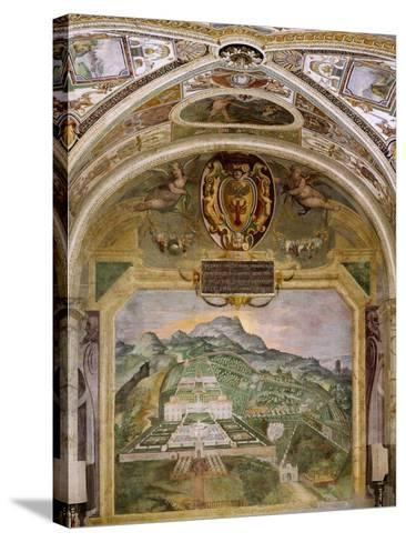 Fresco Depicting Villa Lante, Lodge of Palazzina Gambara, Villa Lante, Bagnaia, Italy, 16th Century--Stretched Canvas Print