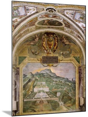 Fresco Depicting Villa Lante, Lodge of Palazzina Gambara, Villa Lante, Bagnaia, Italy, 16th Century--Mounted Giclee Print