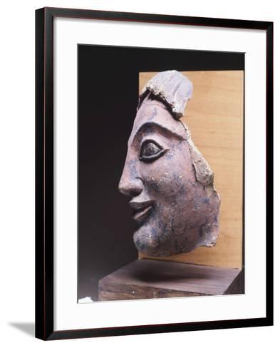 Fictile Head, 9th-1st Century BC--Framed Art Print