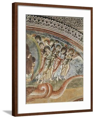 Archangel Michael and Angels Fighting Against Dragon, Detail from Vision of Apocalypse--Framed Art Print
