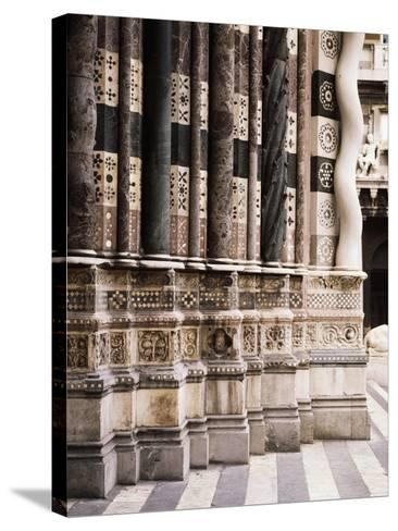 Architectural Detail from Columns of Facade of St Lawrence--Stretched Canvas Print
