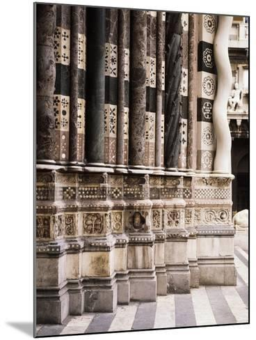 Architectural Detail from Columns of Facade of St Lawrence--Mounted Giclee Print
