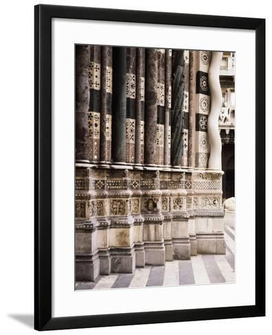 Architectural Detail from Columns of Facade of St Lawrence--Framed Art Print