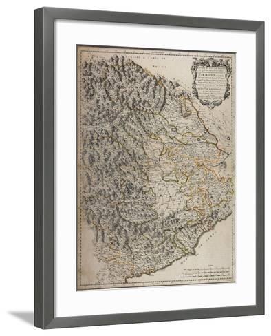 Northern Alpine Regions, Padan Plain and Western Liguria Region, Map--Framed Art Print
