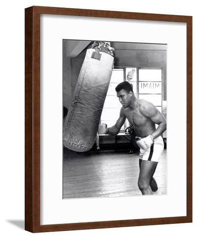 Muhammad Ali Training at the 5th Street Gym, Miami Beach, 27 September 1965--Framed Art Print