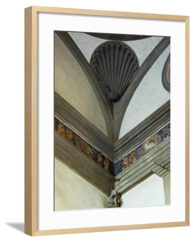 Architectural Detail from Pazzi Chapel, Architect Filippo Brunelleschi--Framed Art Print