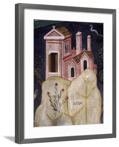 Church in Affile, Detail from Stories of Saint Benedict--Framed Art Print
